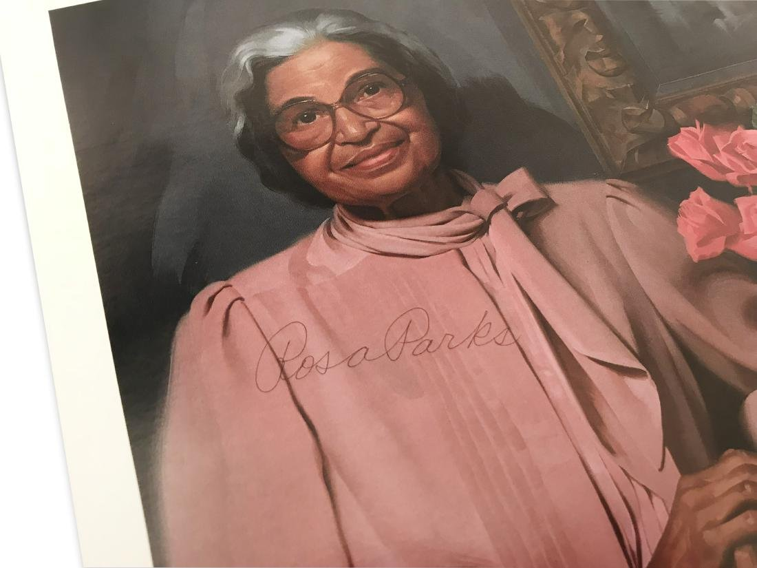 Rosa Parks Signed Color Photograph - 2