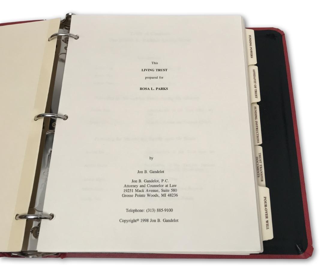Rosa Parks' Estate Planning Portfolio, signed documents - 4