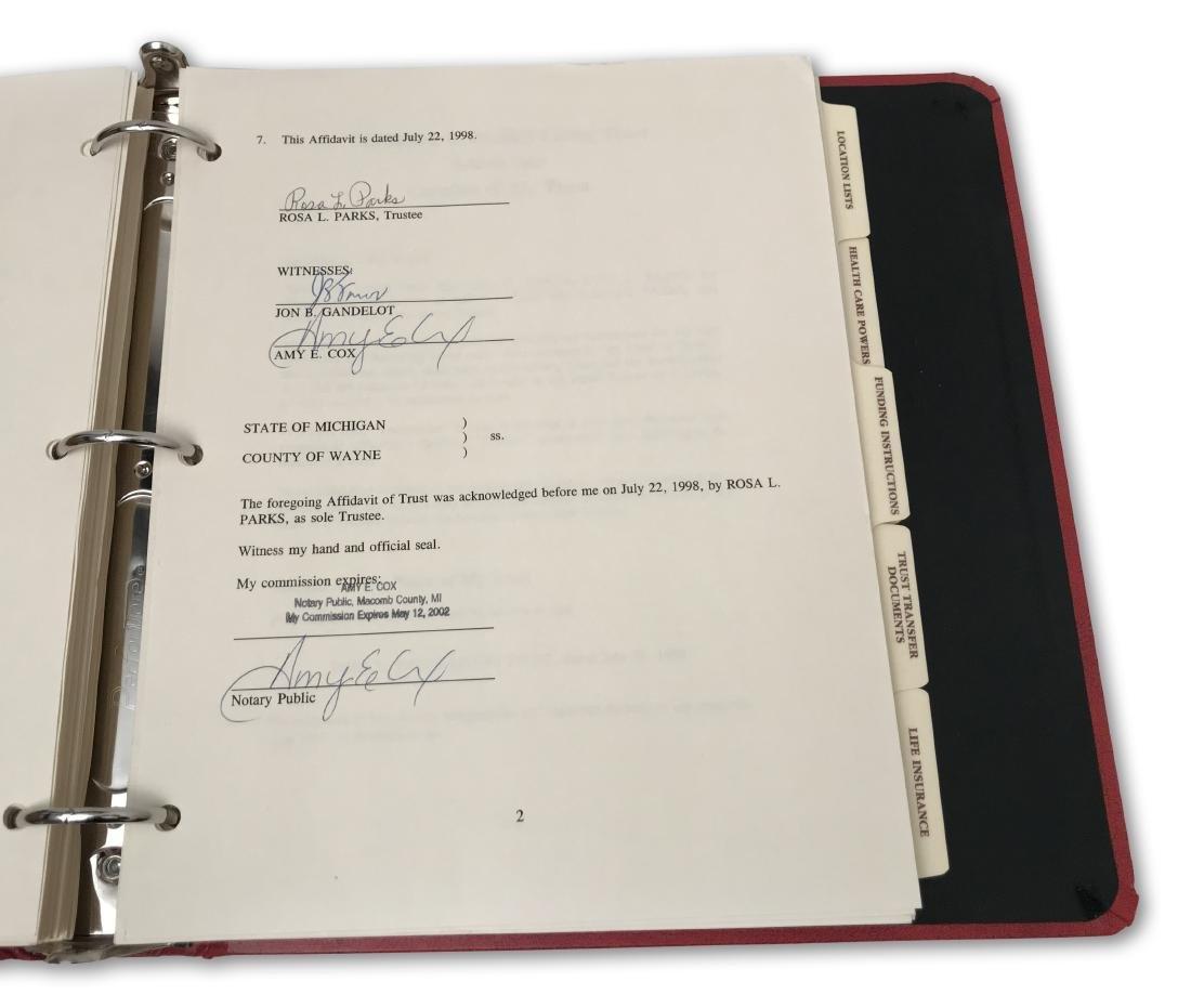 Rosa Parks' Estate Planning Portfolio, signed documents - 5