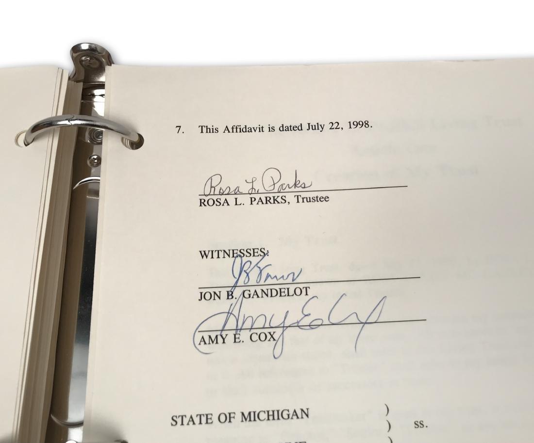Rosa Parks' Estate Planning Portfolio, signed documents - 6