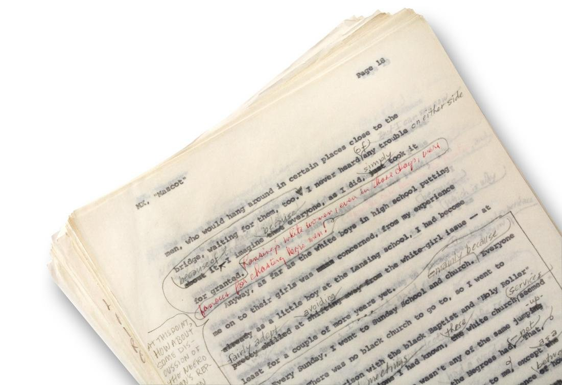 Malcolm X Manuscript, notes by Malcolm X and Alex Haley - 10