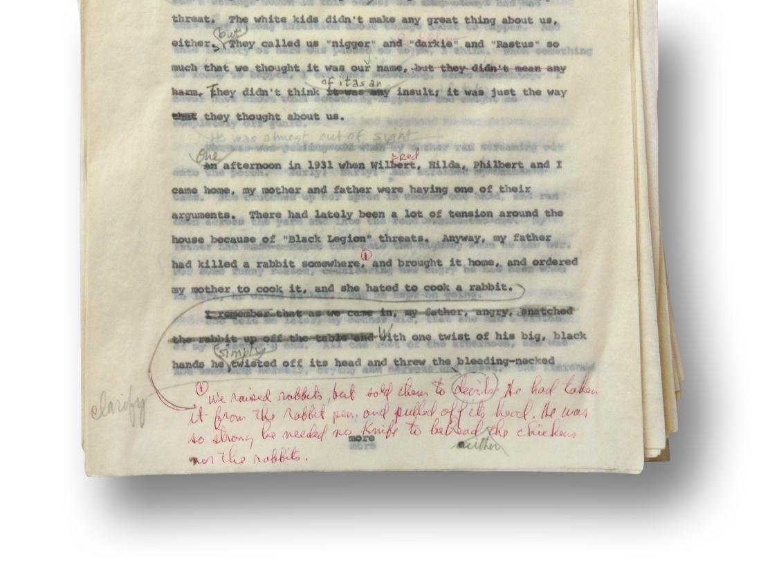 Malcolm X Manuscript, notes by Malcolm X and Alex Haley - 3