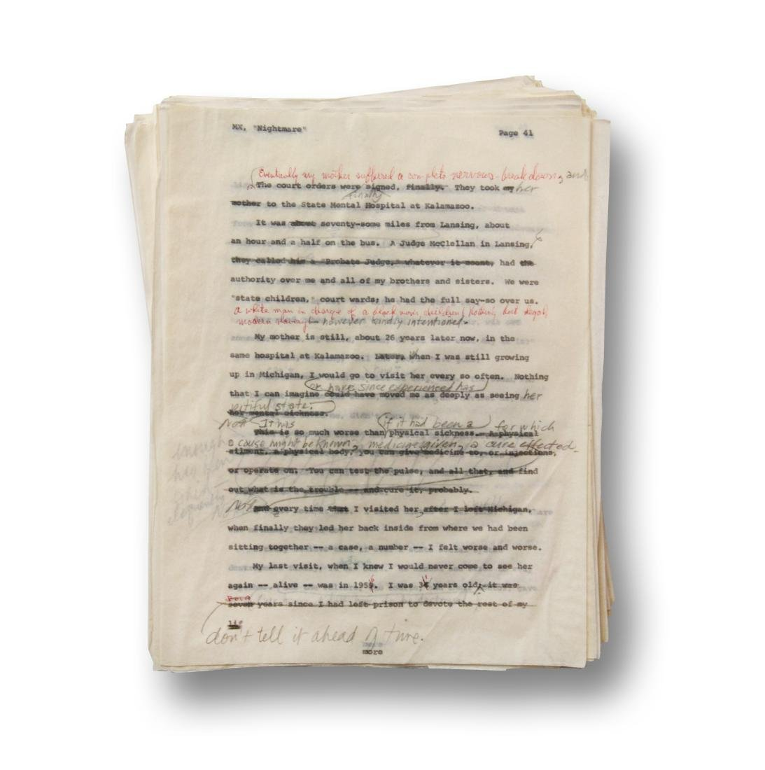 Malcolm X Manuscript, notes by Malcolm X and Alex Haley - 4