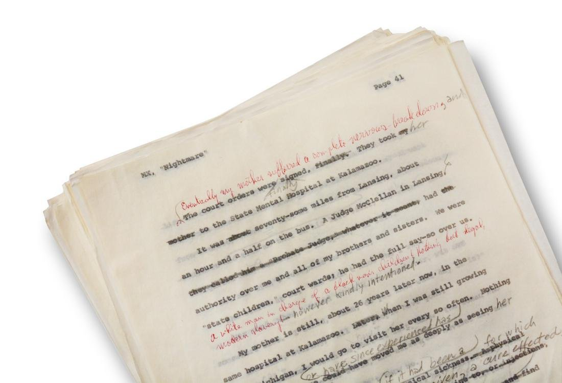 Malcolm X Manuscript, notes by Malcolm X and Alex Haley - 5