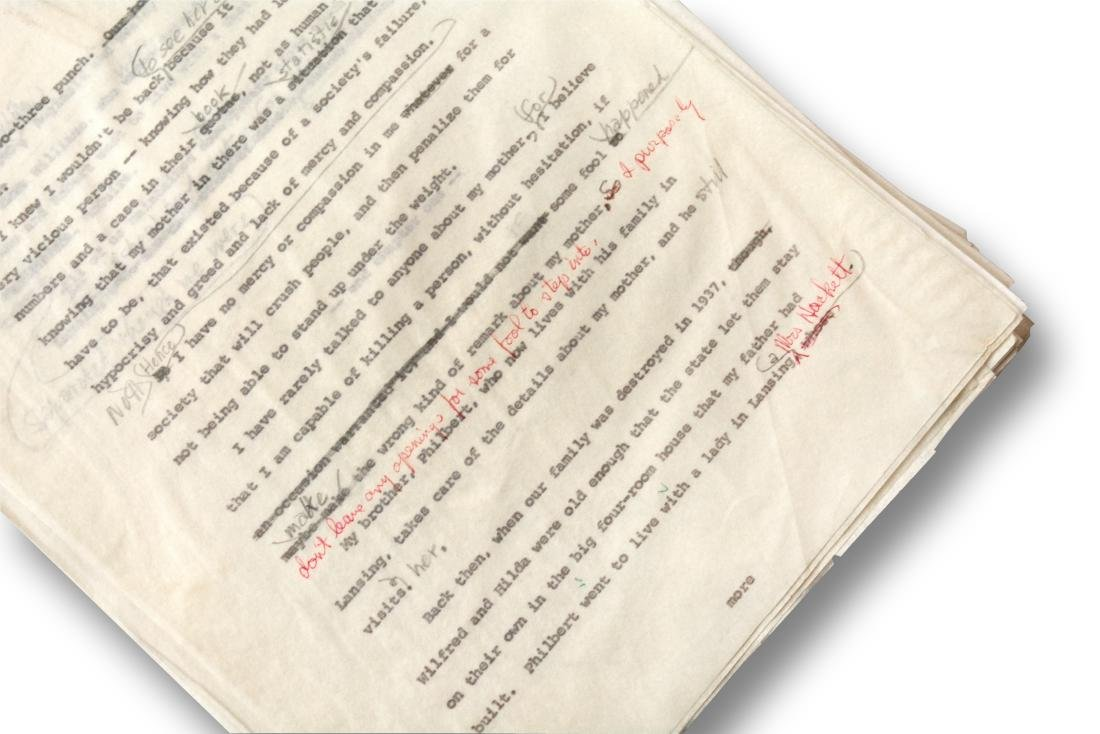 Malcolm X Manuscript, notes by Malcolm X and Alex Haley - 7