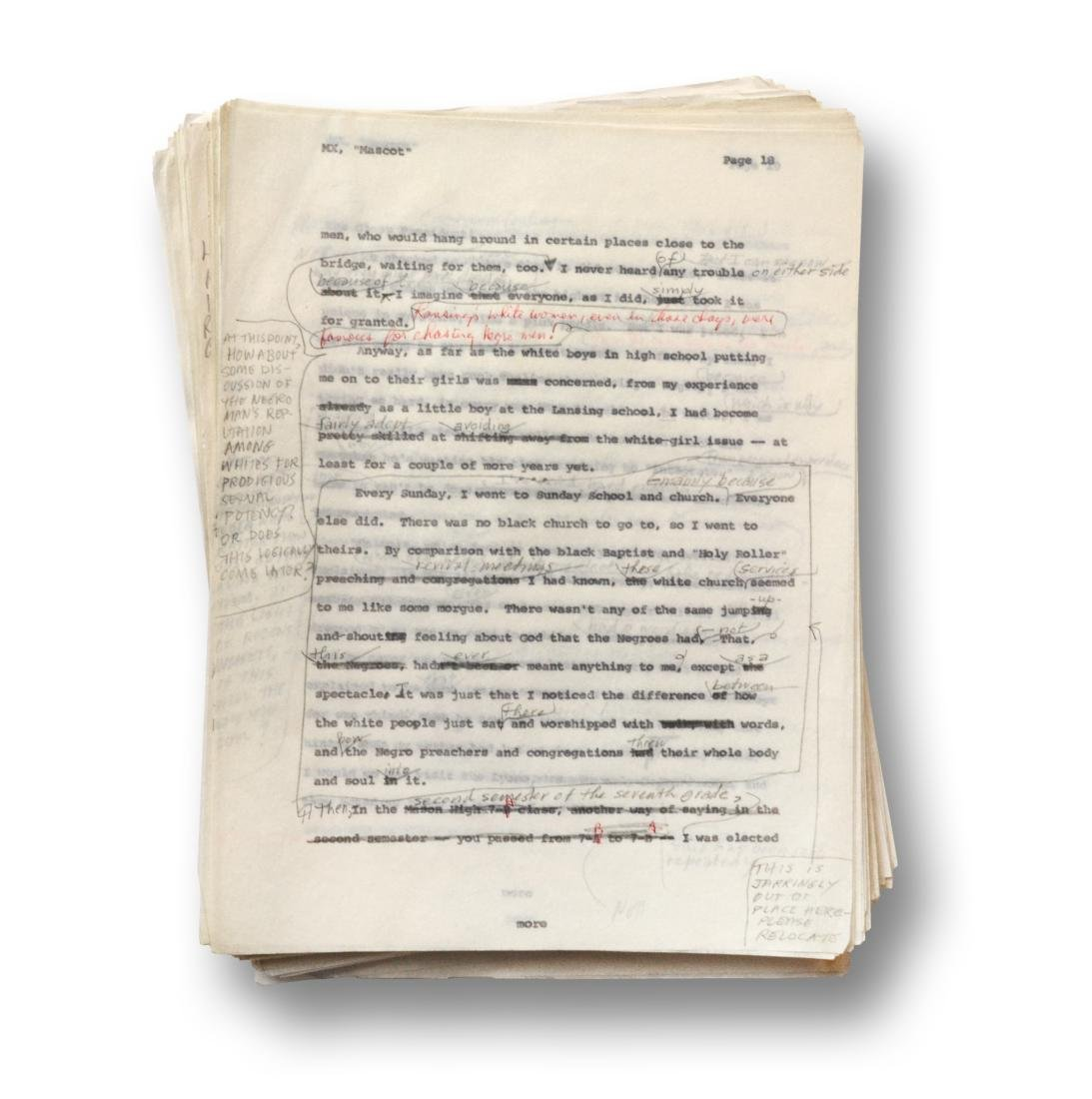 Malcolm X Manuscript, notes by Malcolm X and Alex Haley - 9