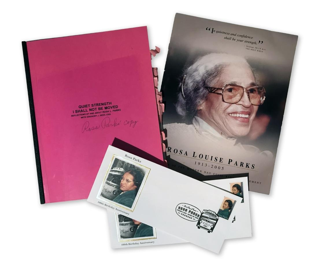 Rosa Parks Book Manuscript with handwritten notes +