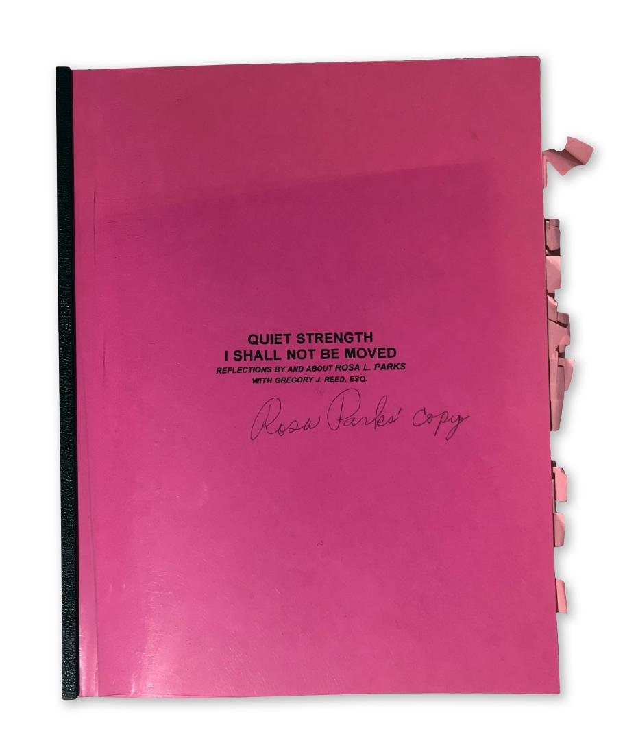 Rosa Parks Book Manuscript with handwritten notes + - 2