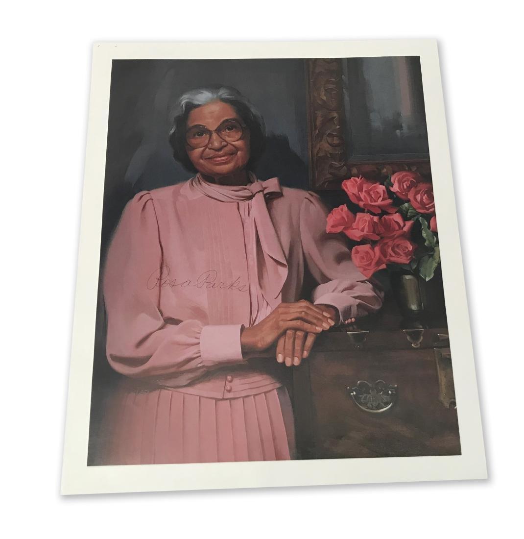 Rosa Parks Signed Color Photograph
