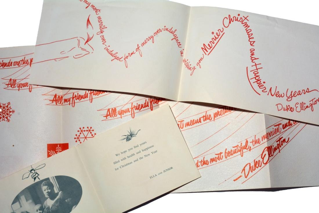 Cards from Duke Ellington/Ella Fitzgerald to Mrs. Tatum - 2