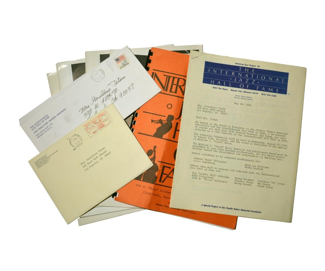 Art Tatum's Int'l Jazz Hall of Fame Induction