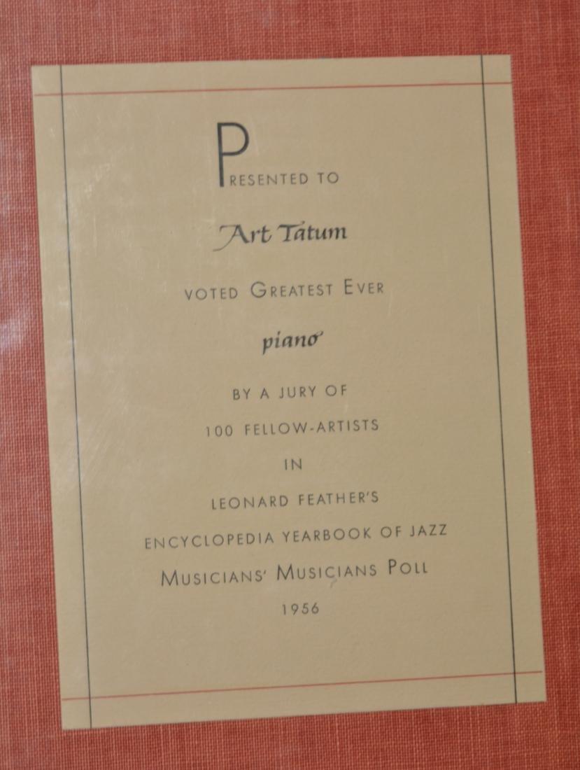 Yearbook of Jazz Presented to Art Tatum - 2