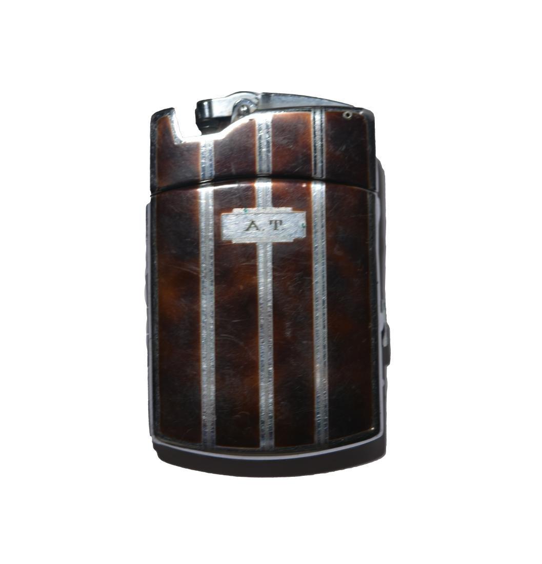 Art Tatum's Enameled and Silver Cigarette Case&Lighter