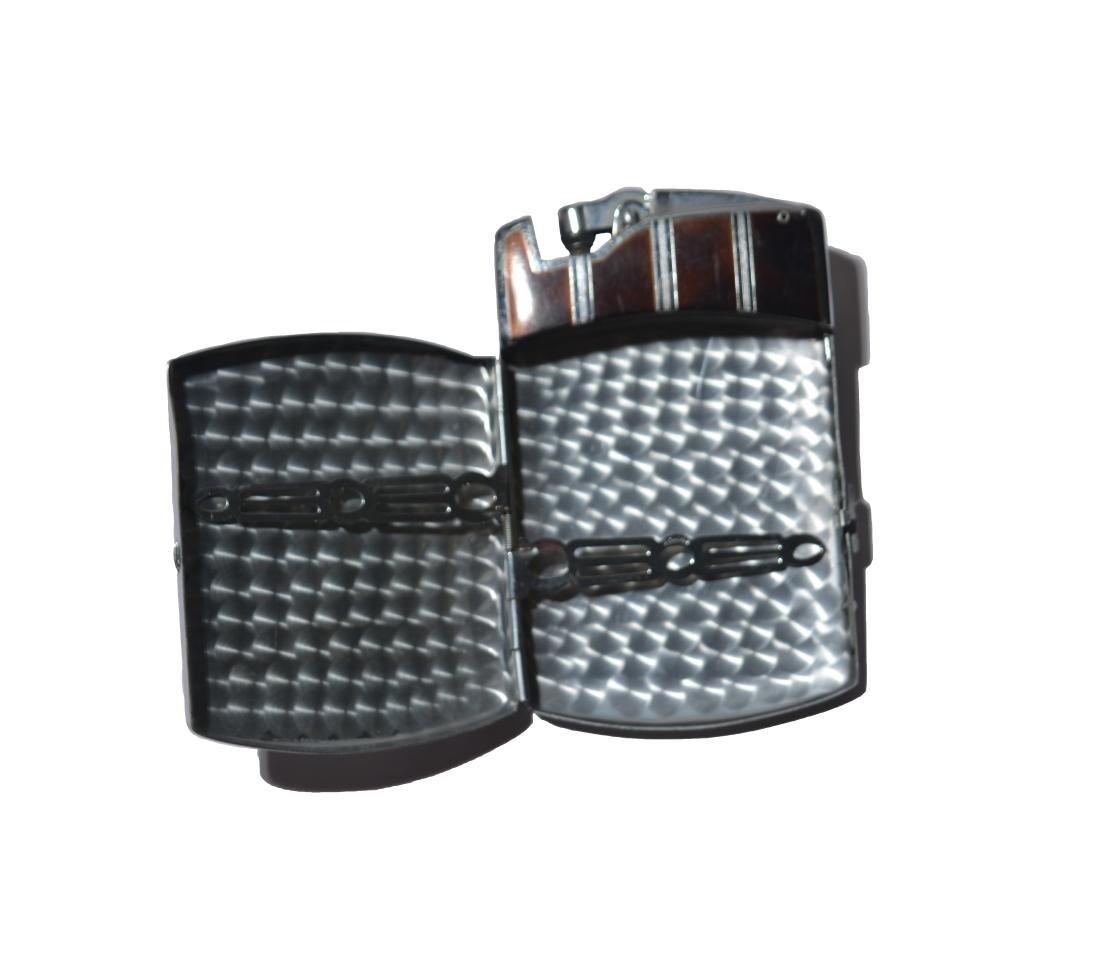Art Tatum's Enameled and Silver Cigarette Case&Lighter - 2