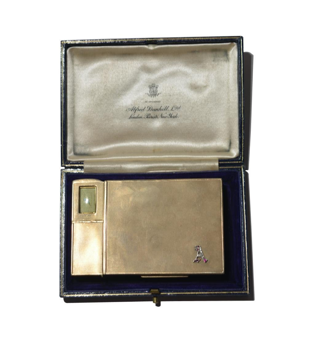 Art Tatum's Dunhill Cigarette Case, Lighter & Watch