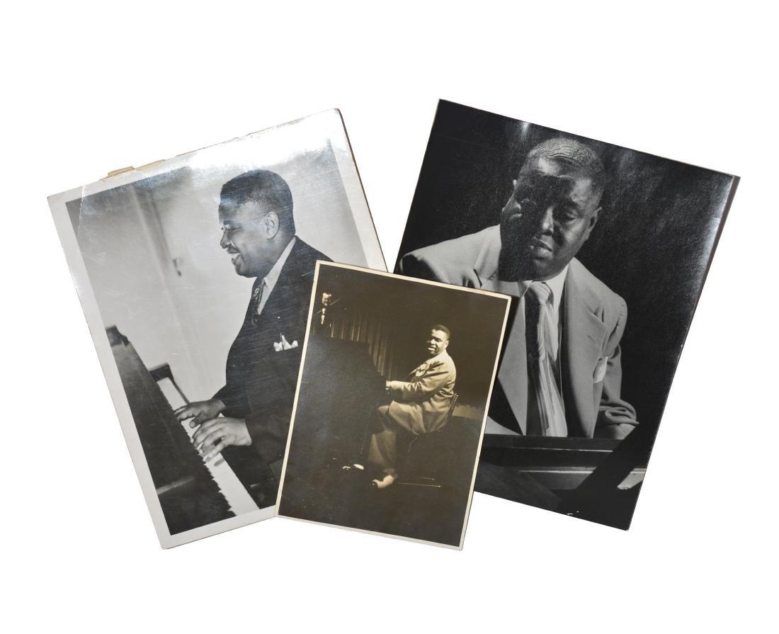 3 Candid Photographs of Art Tatum playing