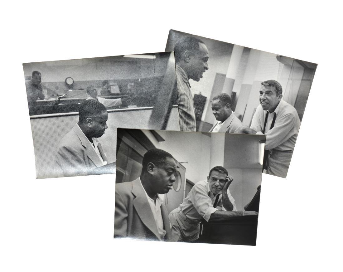 3 Candid Art Tatum and Buddy Rich Photographs