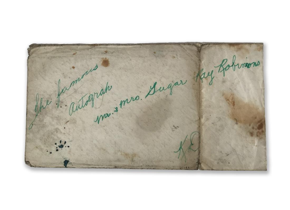 Sugar Ray Robinson Autograph - 2