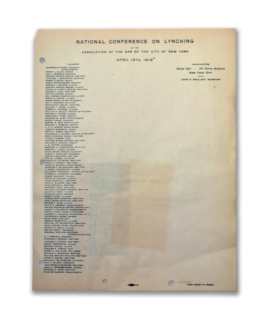 National Conference on Lynching, 1919