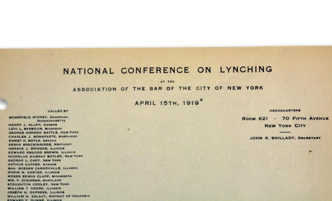 National Conference on Lynching, 1919 - 2