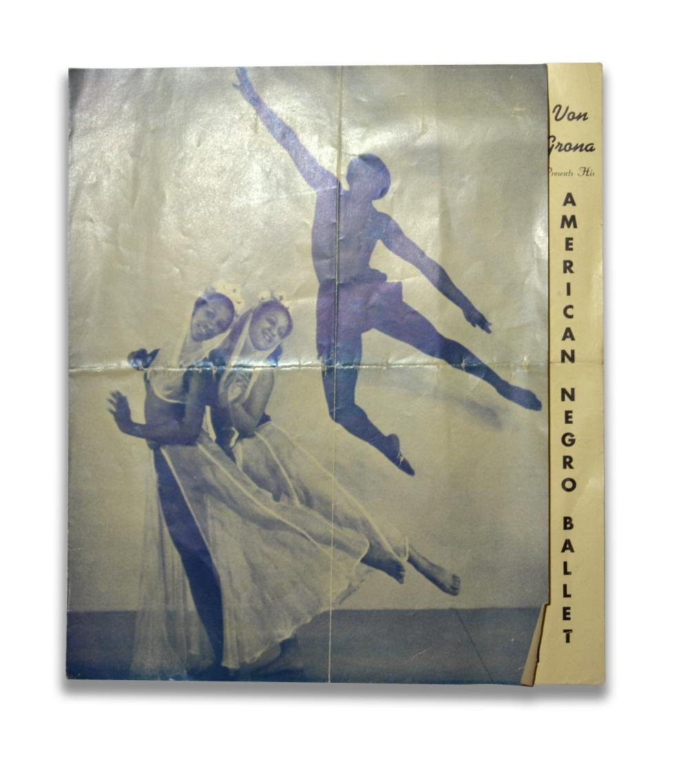 Program for first African American Ballet Troupe