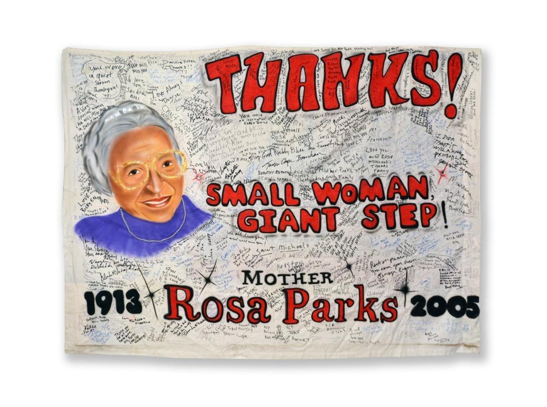 Rosa Parks' Funeral Banner