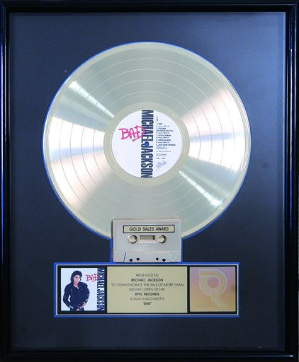 16: Bad Gold Record Presented to Michael Jackson