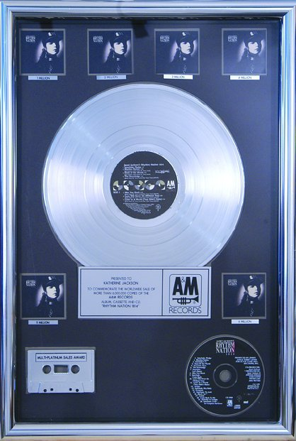 "17: Janet Jackson ""Control"" and ""Rhythm Nation"" Awards"