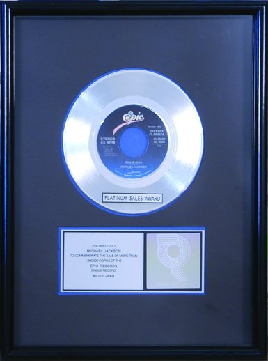 18: Billie Jean Platinum Single to Michael Jackson