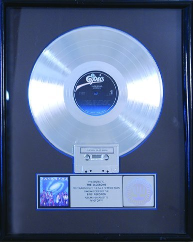 "21: The Jacksons ""Victory"" Platinum Award, 1984"