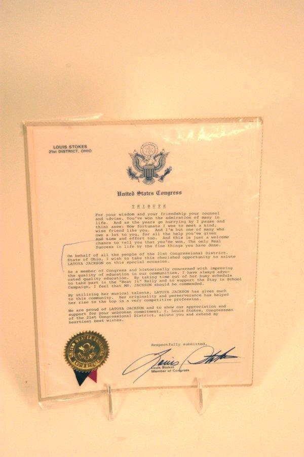 43: US Congressional Tribute to La Toya Jackson