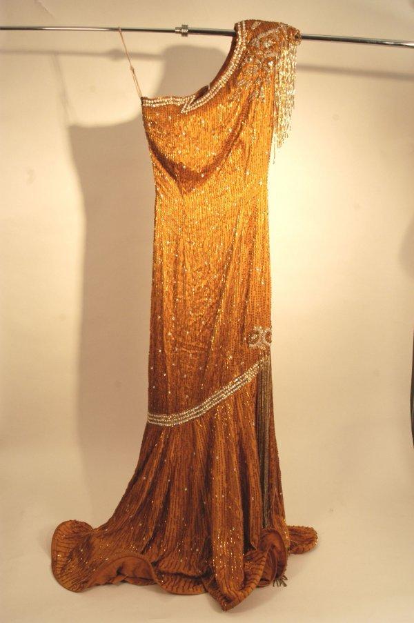 331: La Toya Jackson Floor Length Beaded Gown
