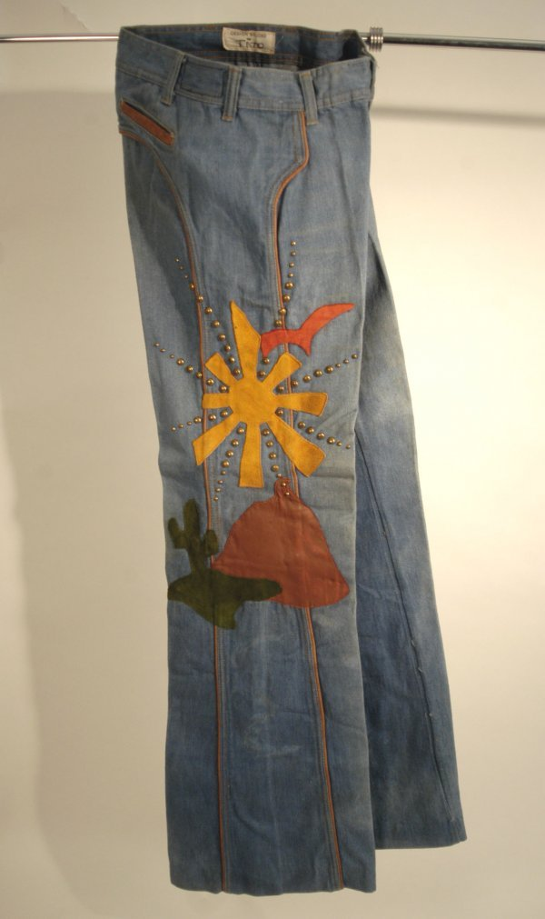 334: Tito Jackson Stage Worn Appliqueed Jeans, 70s