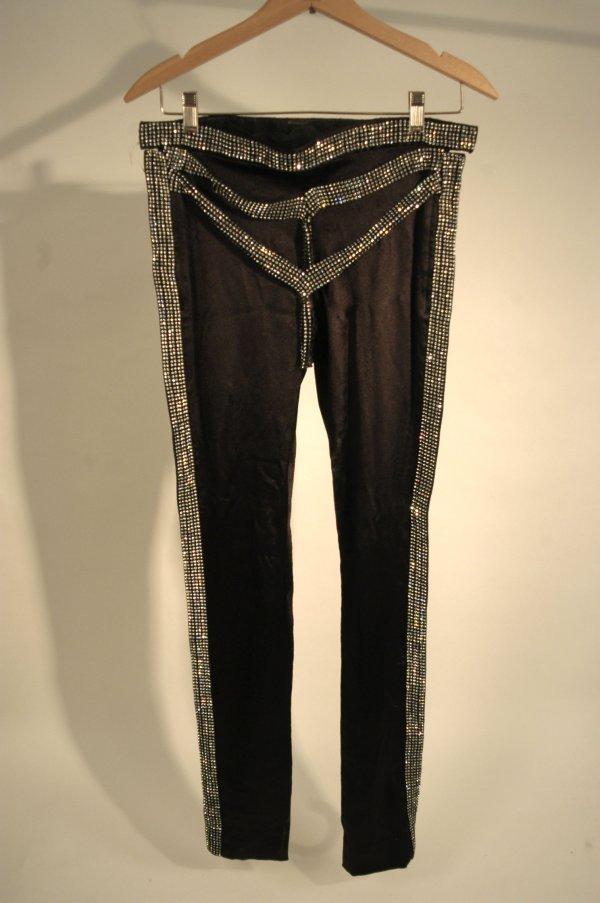 336: La Toya Jackson Black Performance Pants