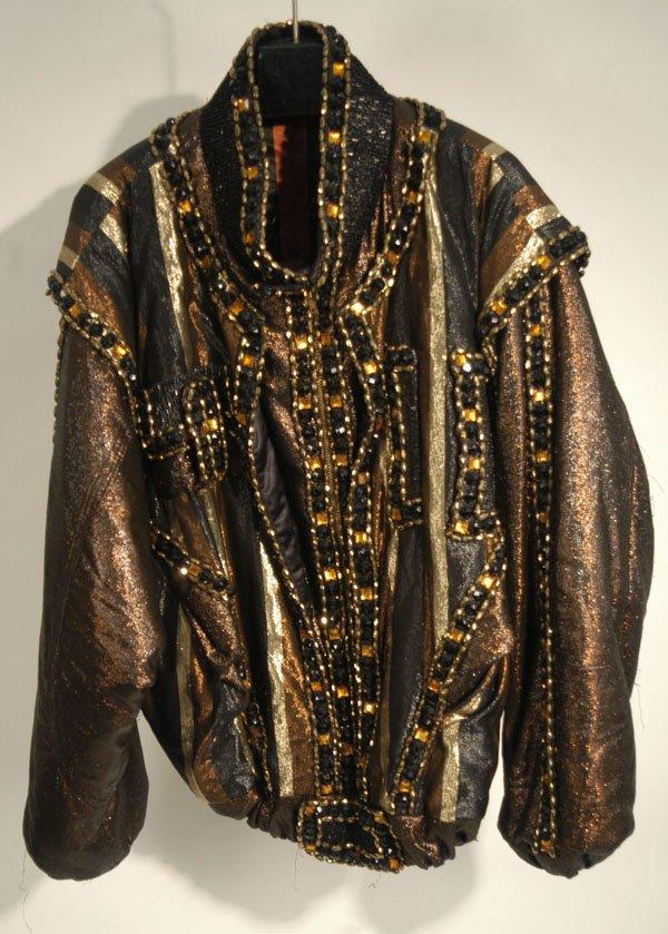 343: Marlon Jackson Beaded Stage Jacket
