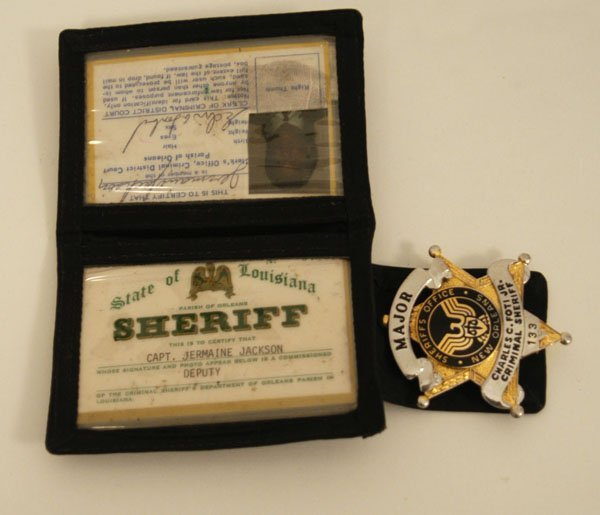573: Jermaine Jackson Sheriff's Wallet with IDs and Bad