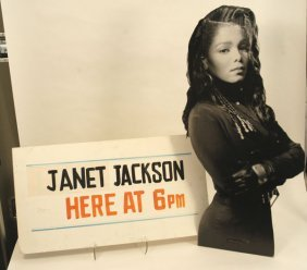 """577:  Janet Jackson """"Control"""" Display and Sign"""