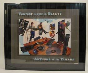 "580:  ""Jacksons With Yamaha"" Advertising Art"