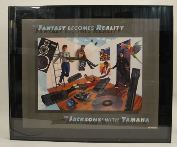 "580:  ""Jacksons With Yamaha"" Advertising Art"