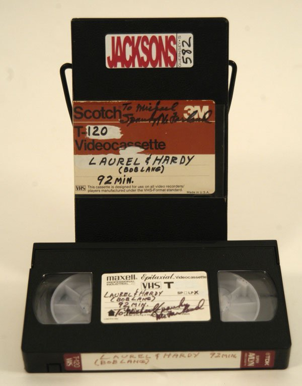 582: Spanky Inscribed VHS Tape to Michael Jackson - 2
