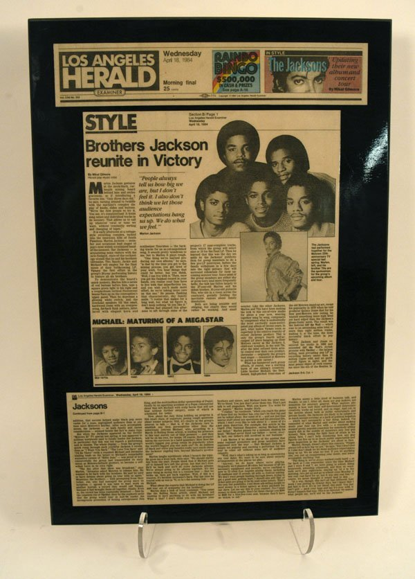 "584:  ""LA Herald"" Jacksons Article, 1984"