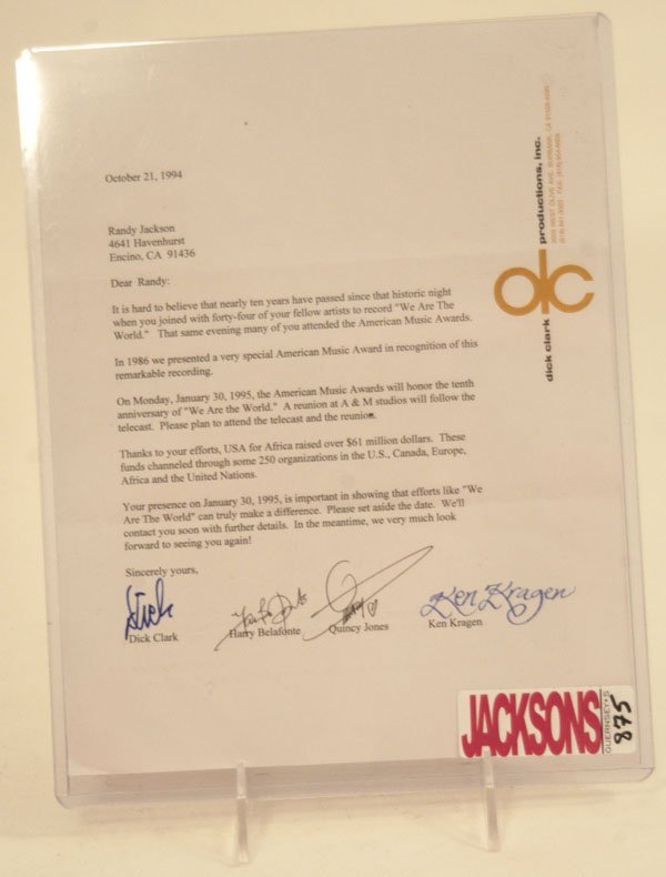 875: Dick Clark and Quincy Jones Signed Letters, 1994