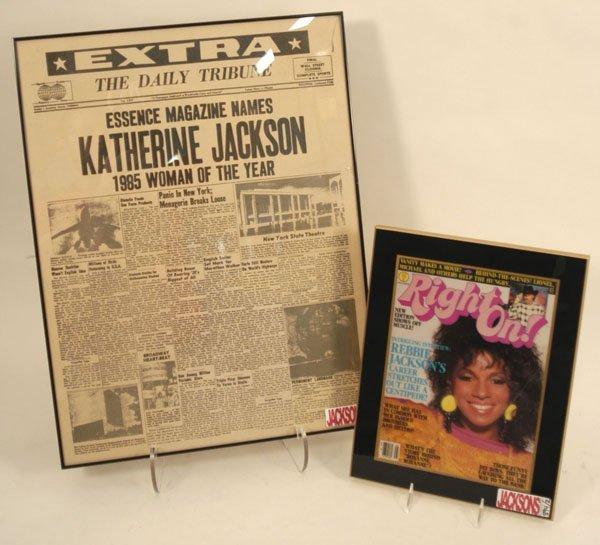 894: Katherine and Rebbie Jackson; covers, c.80s