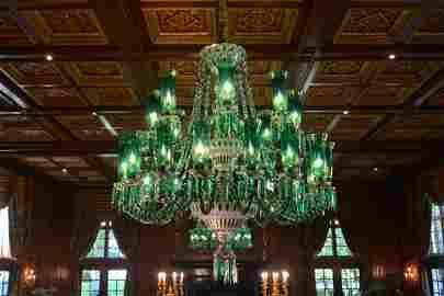 Palatial Bohemian Cut Crystal Chandelier