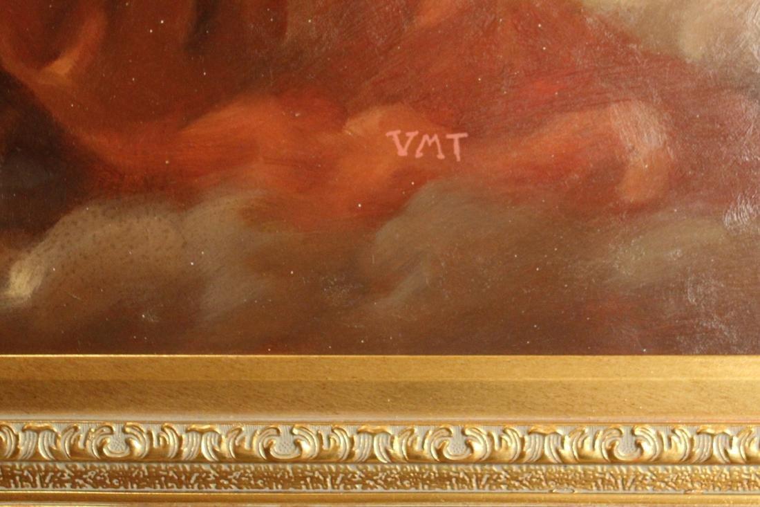 VMT, Oil. Reclining Nude. - 3