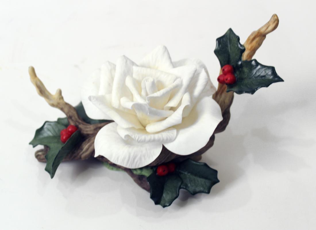 Boehm Porcelain Flower. Christmas Rose