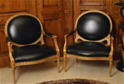 Pair of Decorator French Armchairs