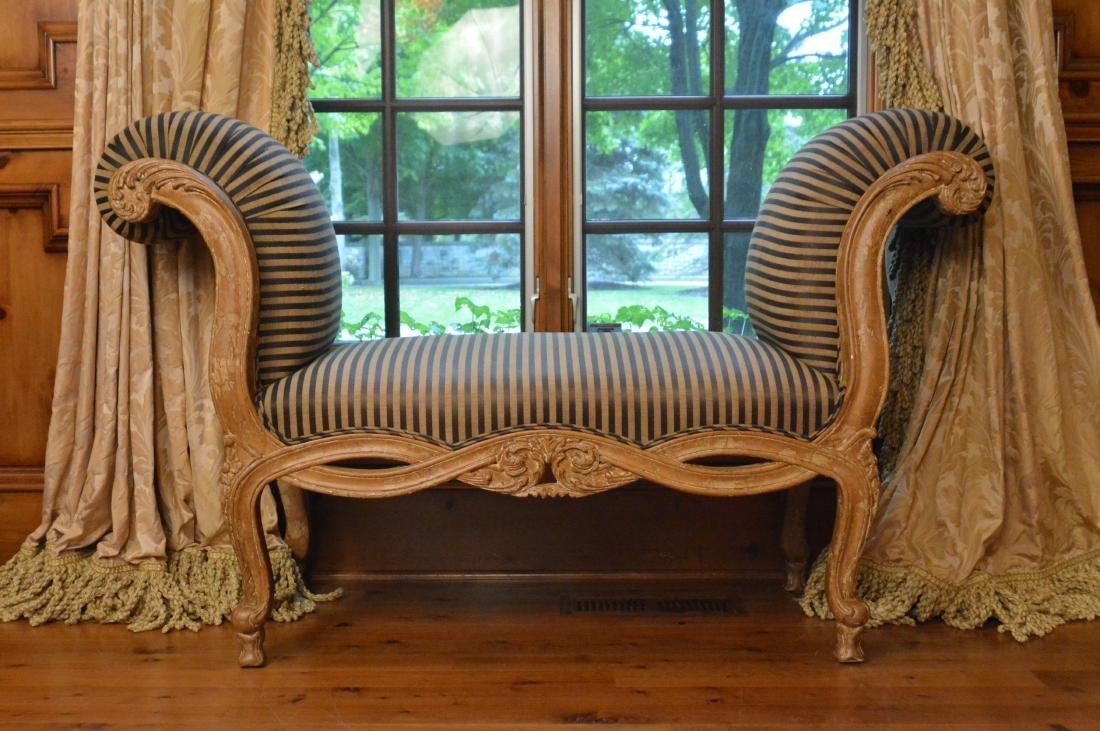 Pair Louis XV Style Boudoir Benches