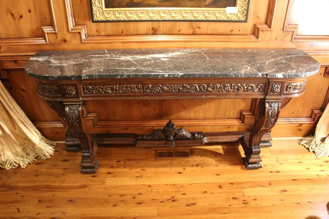 Victorian Style Marble Topped Console Table