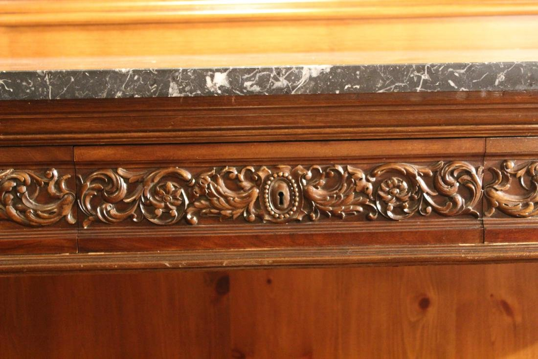 Victorian Style Marble Topped Console Table - 4